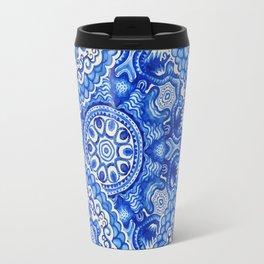 doily watercolor vector gzhel pattern Travel Mug