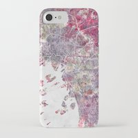 oslo iPhone & iPod Cases featuring Oslo Map by MapMapMaps.Watercolors