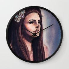 She Wore Blue Velvet Wall Clock