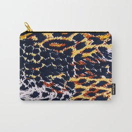 Jagged Up Mixed Duo Coloured Leopard Skin Print Carry-All Pouch