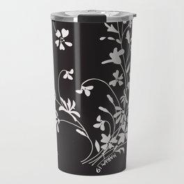 Dancing Floral Travel Mug