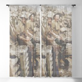 Ghosts of World War One Sheer Curtain