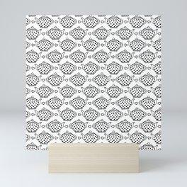 polka dot teapots and hearts  pattern Mini Art Print