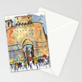 Gate of San Gimignano, Tuscany Stationery Cards