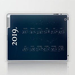 2019 Moon Phases Calendar Laptop & iPad Skin