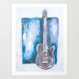 in the pocket (guitar on blues) Art Print