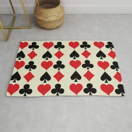 Playing Card Suits Print Rug