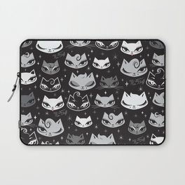Rockabilly Cats with Pompadours Laptop Sleeve