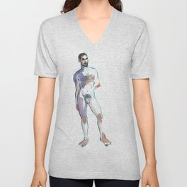 COLBY, Nude Male by Frank-Joseph Unisex V-Neck