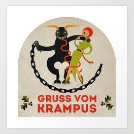 Gruss vom Krampus II Art Print