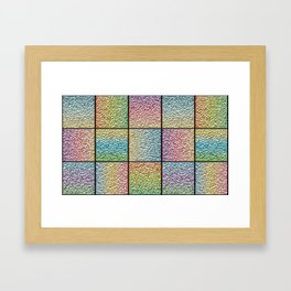 Pastel Rainbow Chrome Tiles Framed Art Print