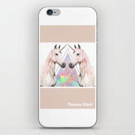 UNICORN BITCH! iPhone Skin