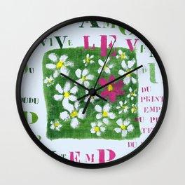 Vive le vent Wall Clock