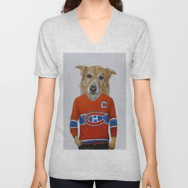 dog in sportwear Unisex V-Neck