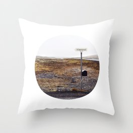Post box, Iceland Throw Pillow
