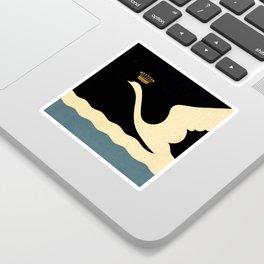 Swan Queen Minimalist art Sticker