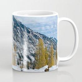 Scenic Landscape, Mt Stuart, Larches, Alpine Lakes Wilderness Coffee Mug