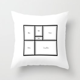 Little Apartment Plan Throw Pillow