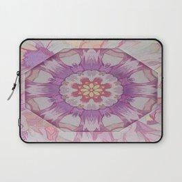 Soft Lavender Floral Kaleioscope Laptop Sleeve