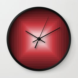 Red Square Gradient Wall Clock