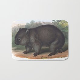 Wombat in the nature of Australia Bath Mat