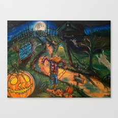 At the stroke of Halloween Canvas Print