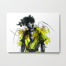 Black Dragon Metal Print