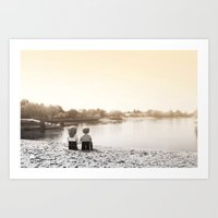 Putney Bridge, London Art Print
