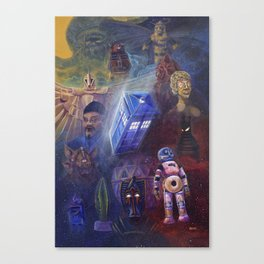 """""""13 in 50"""" a Tribute to Doctor Who Canvas Print"""