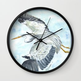 Soaring Heron Wall Clock