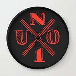 U N O Wall Clock
