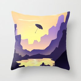 Umbrella's voyages Throw Pillow