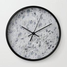 Silver Hide Print Metallic Wall Clock