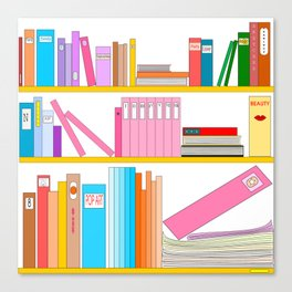 Favorite books Canvas Print
