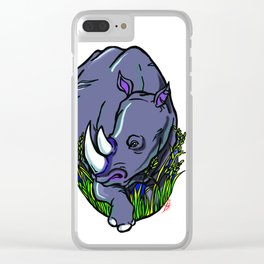 Wild Rhino Clear iPhone Case