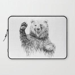 Waving Bear Laptop Sleeve