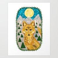 Spirit Coyote Art Print