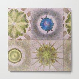 Underbuys Configuration Flowers  ID:16165-093621-68510 Metal Print