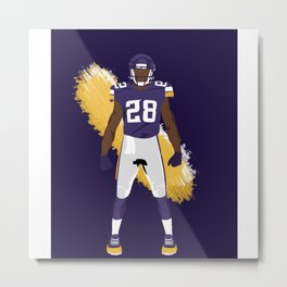 Purple People Eaters - Adrian Peterson Metal Print