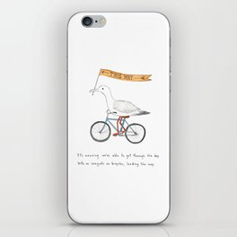 seagulls on bicycles iPhone Skin