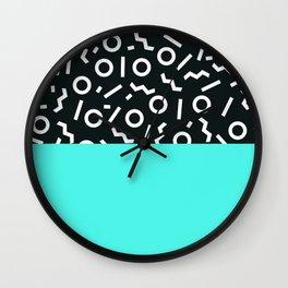 Memphis pattern 48 Wall Clock
