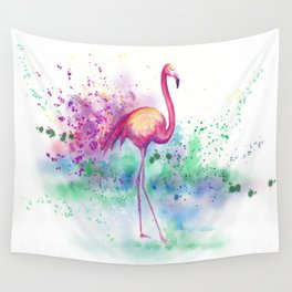 Messy Flamingo Wall Tapestry