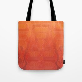 Round and About Coral Tote Bag
