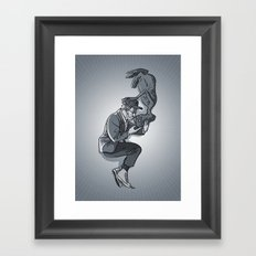 Cannes 2013 x Spielberg x ET (black and white) Framed Art Print