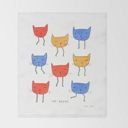 cat heads Throw Blanket