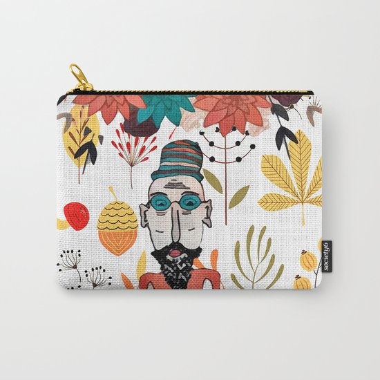 Old floral man Carry-All Pouch