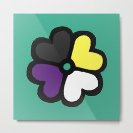Lucky NB Pride Clover Metal Print