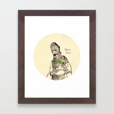 Snoop Dogg about to eat a Bonsai tree Framed Art Print