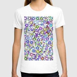 Vivid floral pattern 4181B T-shirt