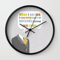 himym Wall Clocks featuring LEGEN____waitforit____DARY by Bianca Green